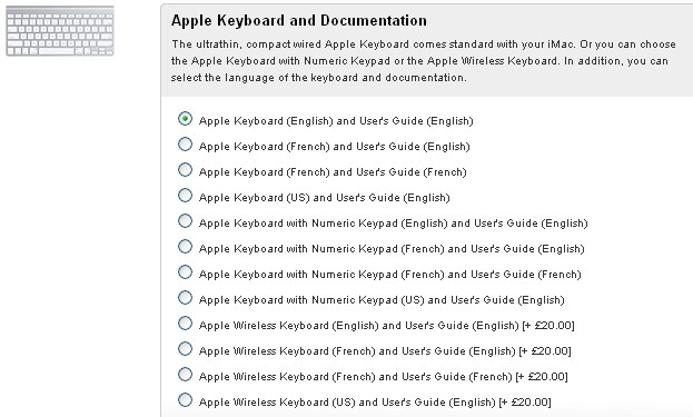 Apple's extensive keyboard options