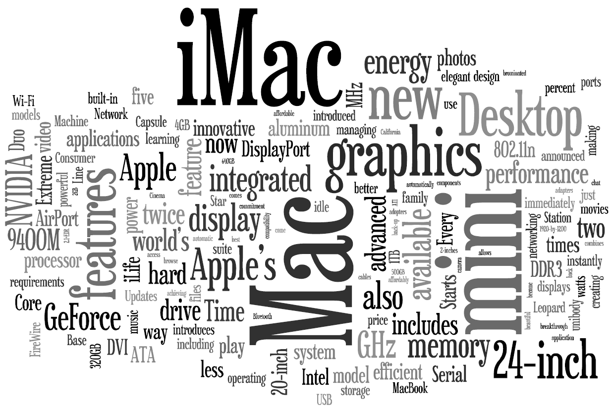 Apple press release wordle
