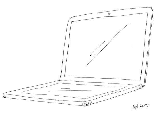 My MacBook Touch. No, I can't draw straight lines.