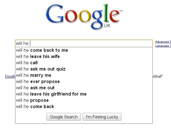 Google, the agony aunt.